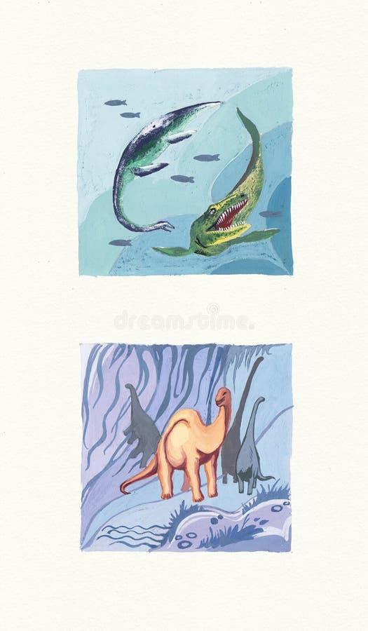 Paleontologi royaltyfri illustrationer