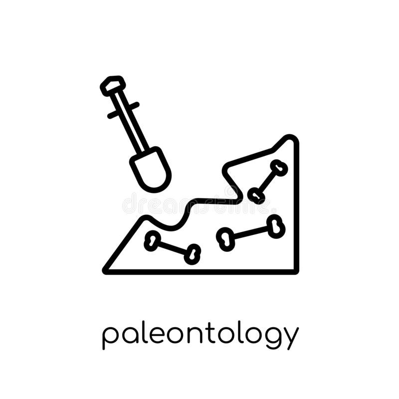 Paleontologisymbol  stock illustrationer