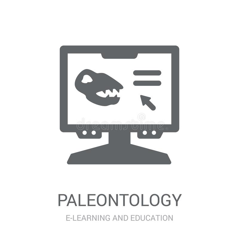 Paleontology icon. Trendy Paleontology logo concept on white background from E-learning and education collection vector illustration