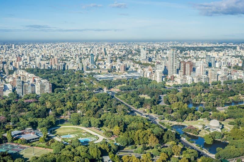 Palermo arbeta i trädgården i Buenos Aires, Argentina. arkivfoton