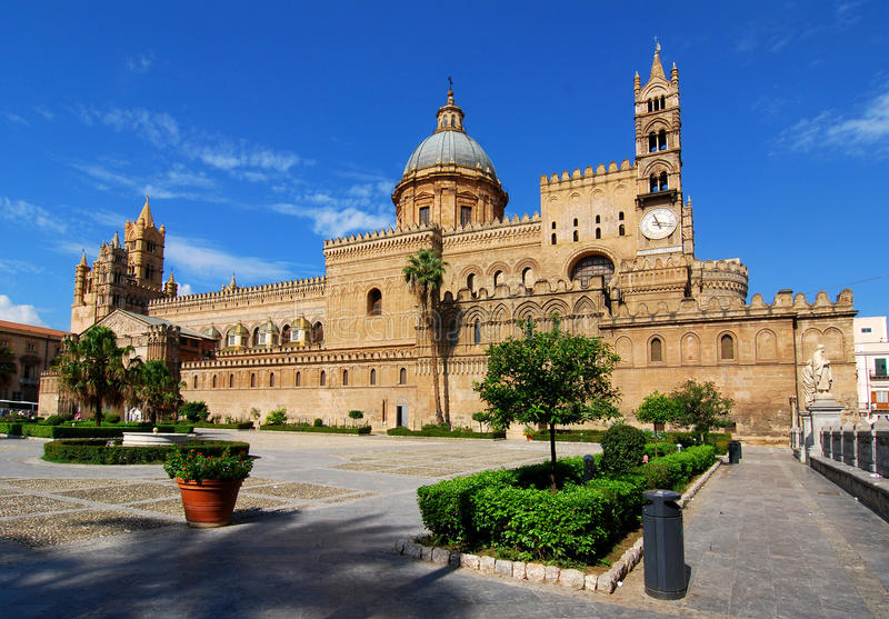 Palermo Cathedral, Sicily, Italy royalty free stock images