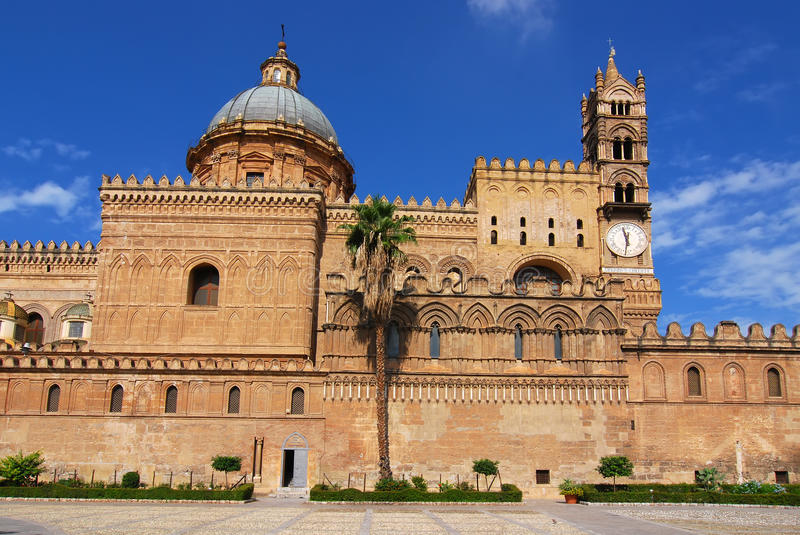 Palermo Cathedral royalty free stock photos