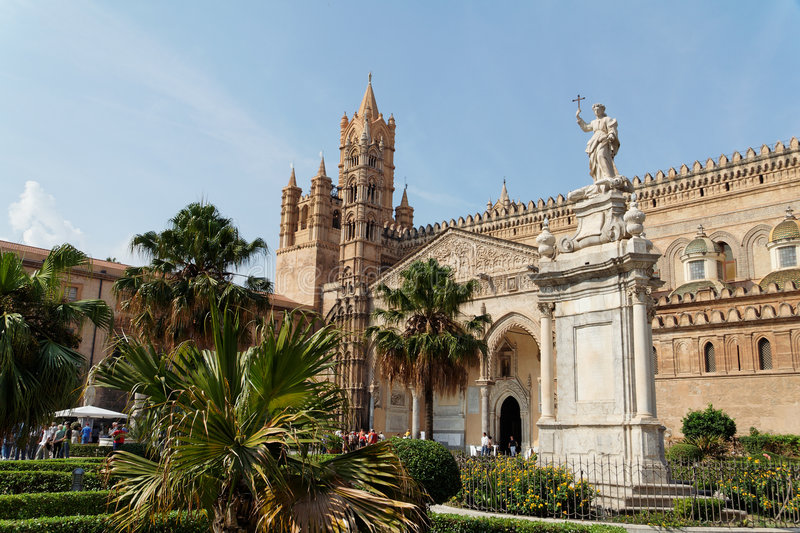 Palermo Cathedral Sicily Italy royalty free stock photos