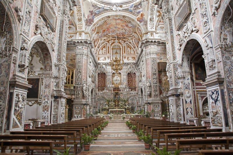 Palermo - Di barrocco Santa Caterina di Chiesa della chiesa immagine stock