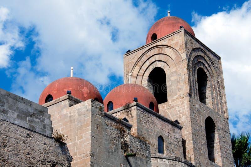 Palermo, esterno di Eremiti di degli del San Giovanni immagini stock libere da diritti
