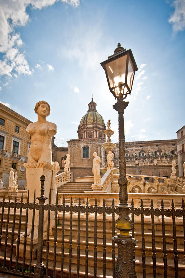 Download Palermo Fountain Of Shame 2 Stock Image - Image: 21340457