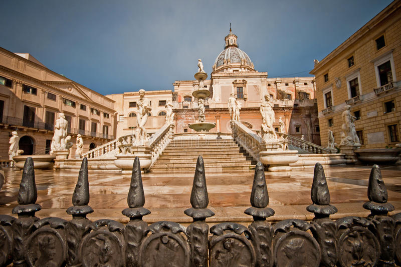 Download Palermo fountain of shame stock image. Image of palermo - 21340465