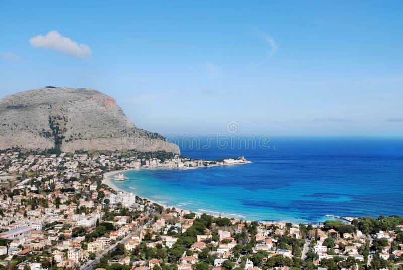 Palermo - golfo de Mondello imágenes de archivo libres de regalías