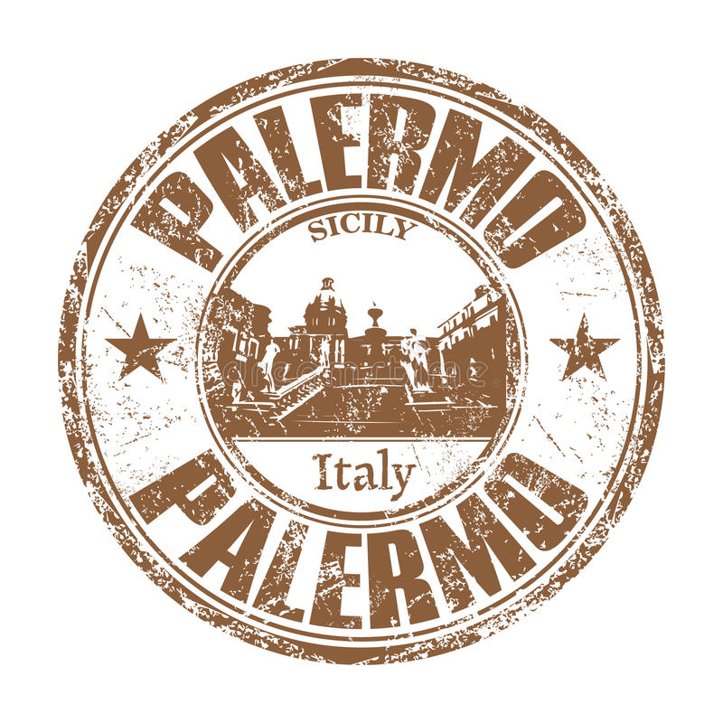 Palermo grunge rubber stamp royalty free stock images