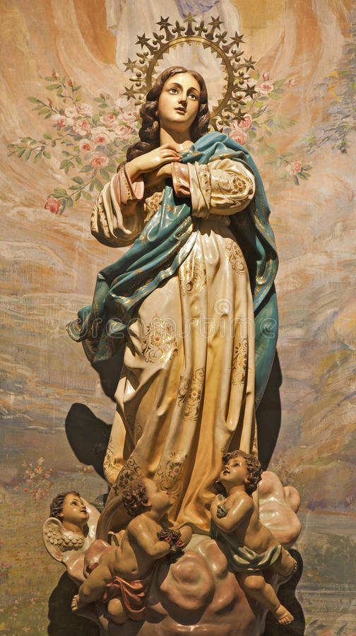 Free Palermo - Immaculate Conception Statue Stock Photo - 30918000