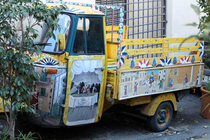 Palermo, Italy - October 16, 2016: typical Sicilian food truck. Palermo, Italy - October 16, 2016: evocative image of typical Sicilian food truck stock image