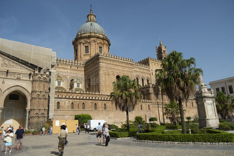 Palermo katedra, Palermo, Sicily, W?ochy fotografia royalty free