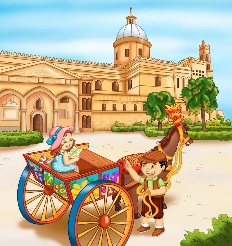 Palermo, la cattedrale illustrazione di stock