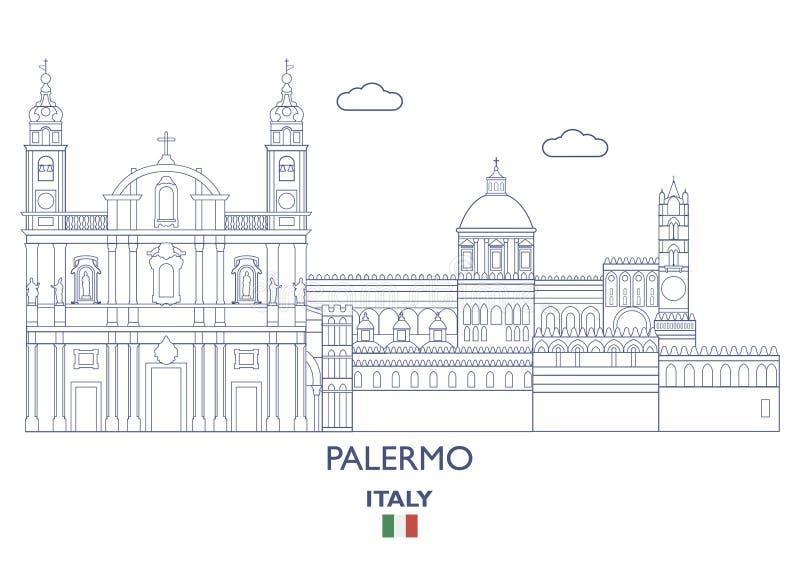 Palermo miasta linia horyzontu, Włochy royalty ilustracja