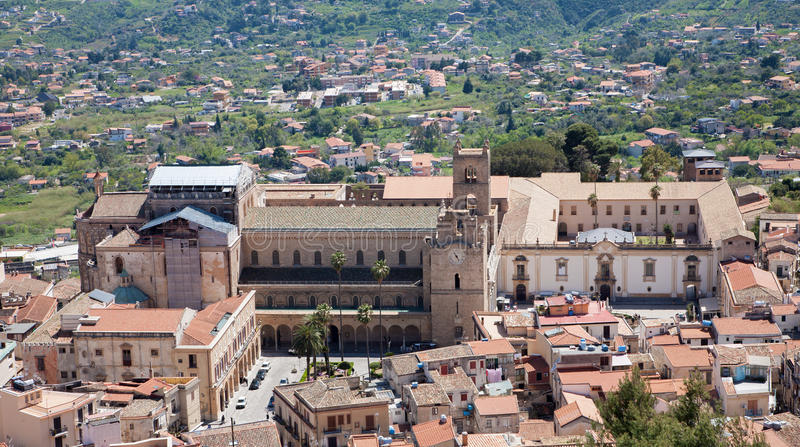 Palermo - Monreale cathedral is dedicated to the Assumption of the Virgin Mary. And is one of the greatest extant examples of Norman architecture in the world royalty free stock photography