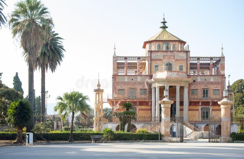 Palermo palazzina cinese frontowy widok obraz stock
