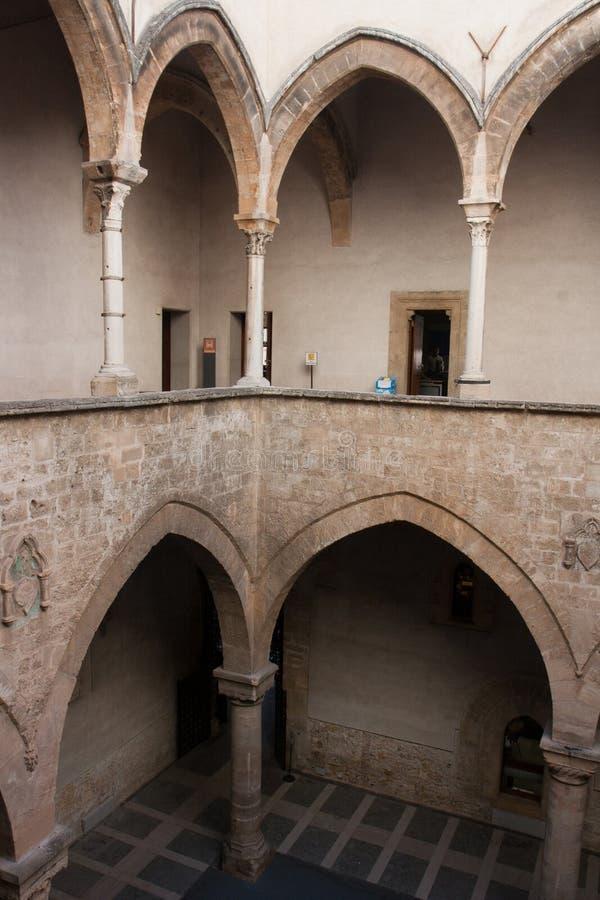 Palermo, Palazzo Chiaramonte Steri royalty-vrije stock fotografie