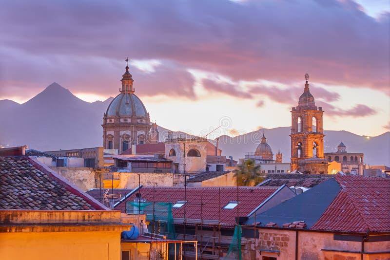 Palermo a penombra immagini stock libere da diritti