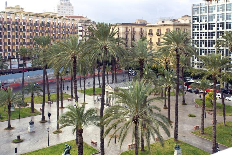Palermo, piazza Castelnuovo immagini stock libere da diritti