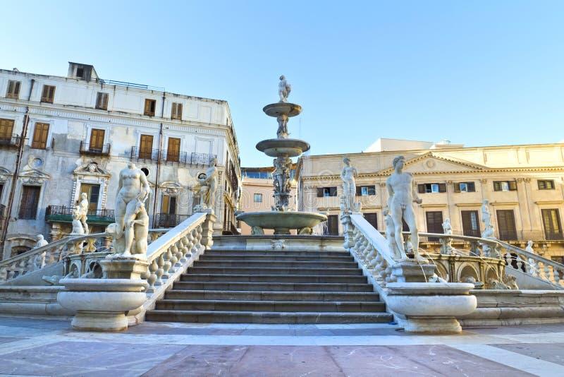 Palermo piazza Pretoria arkivbild