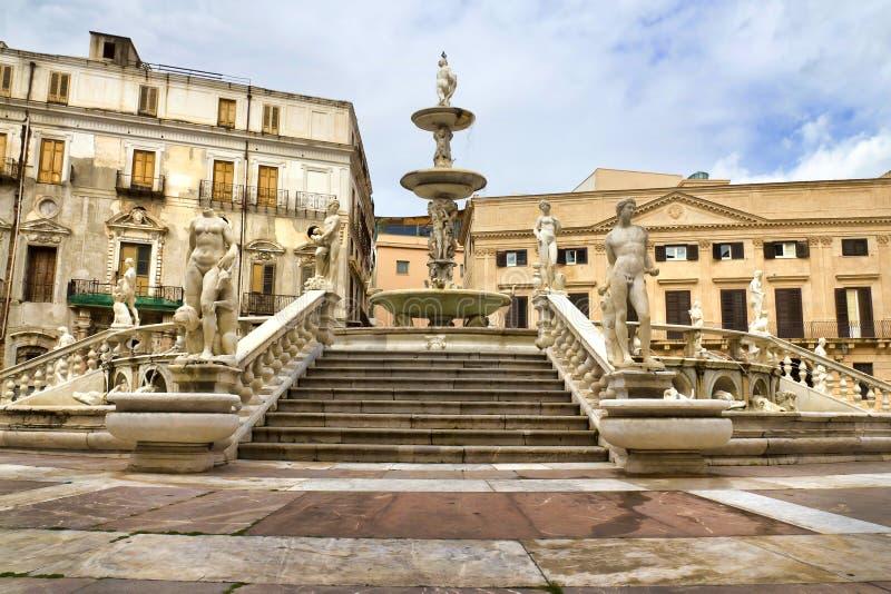 Palermo, Piazza Pretoria. Also known as the Square of Shame, Piazza della vergogna stock photo
