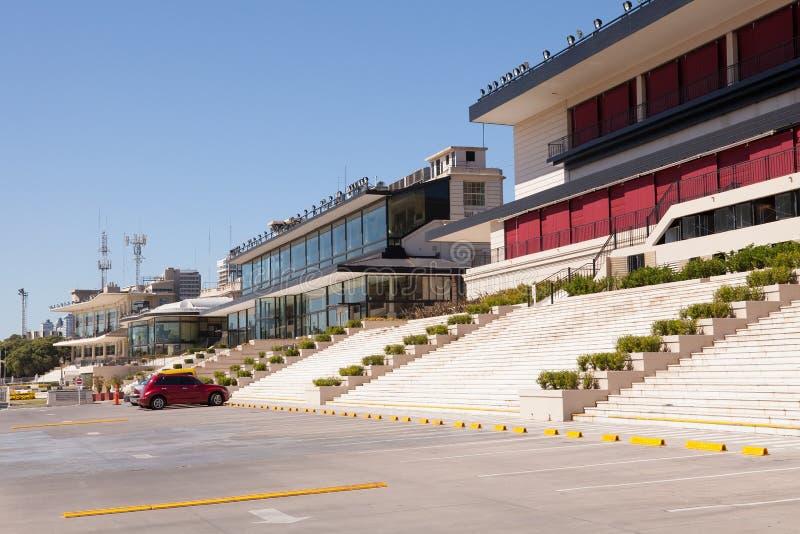 Palermo Racecourse, Buenos Aires. Empty grandstands at Palermo racecourse, Buenos Aires on a non-race day stock photos