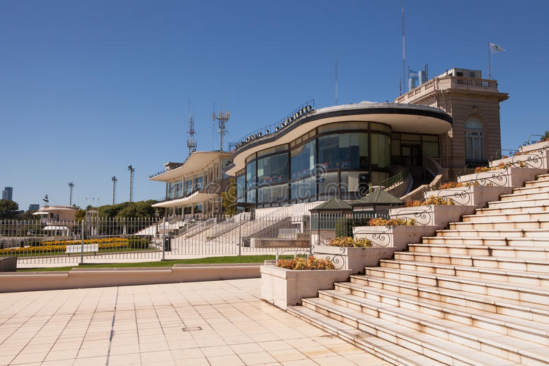 Palermo Racecourse, Buenos Aires. The modern stands near the finishing line of Palermo racecourse stock photography
