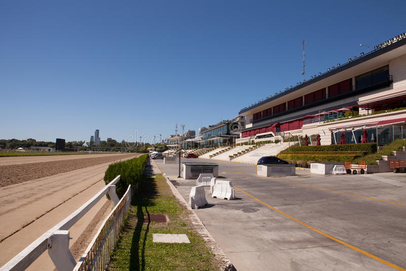 Palermo Racetrack, Buenos Aires. Empty grandstands and racetrack at Palermo racecourse, Buenos Aires on a non-race day royalty free stock photography