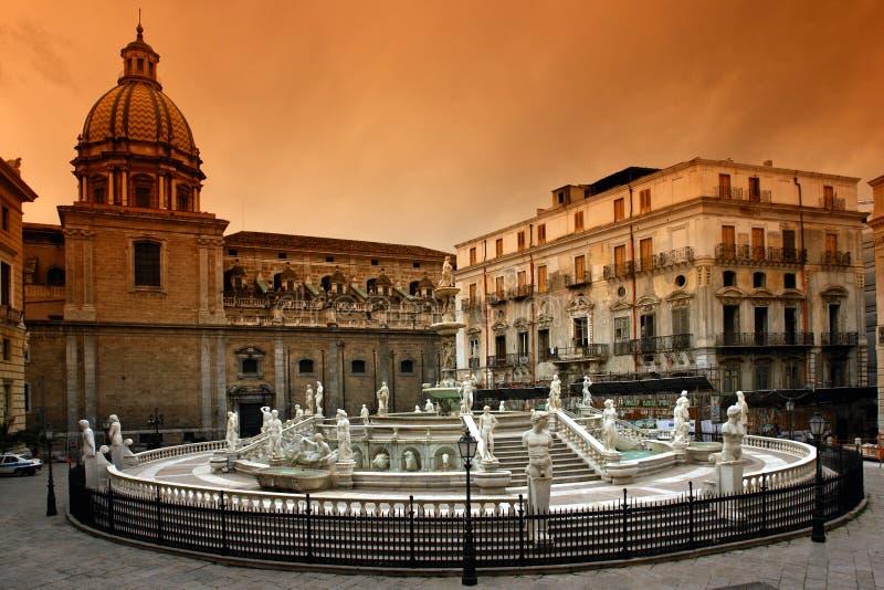 Palermo Sicília imagem de stock royalty free