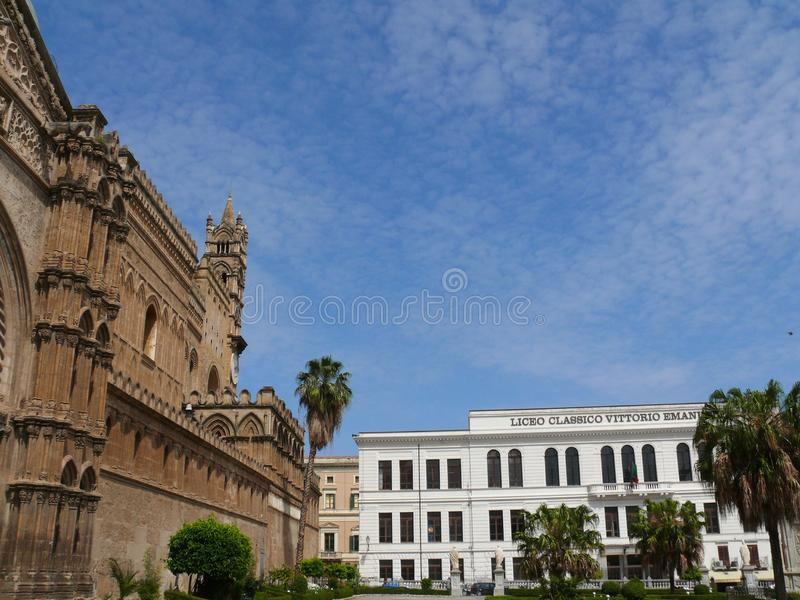 Palermo, Sicili?, Itali? 11/04/2010 Vittorio Emanuele II Schrijver uit de klassieke oudheid stock fotografie