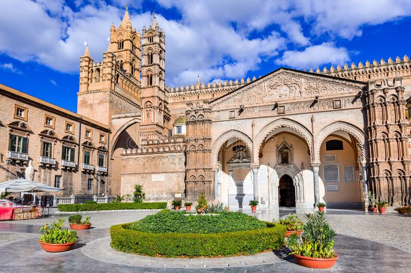 Palermo, Sicilia, Italia Norman Cathedral immagine stock libera da diritti