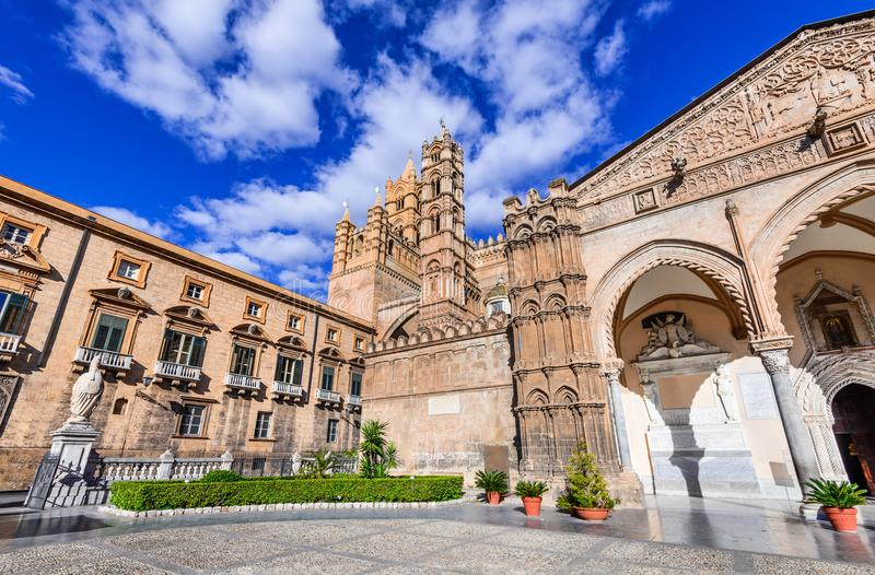 Palermo, Sicilia, Italia Norman Cathedral fotografie stock