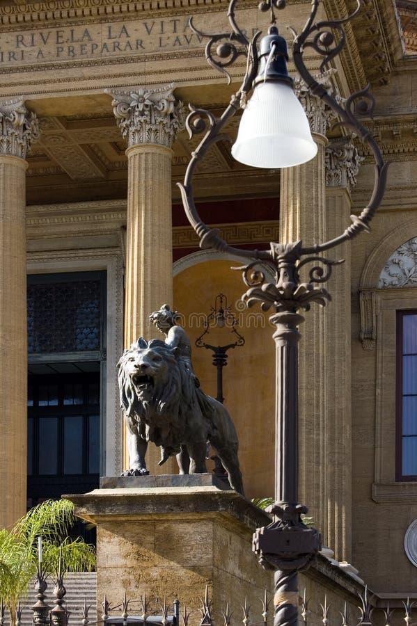 Palermo Sicily Opera House detail royalty free stock photos