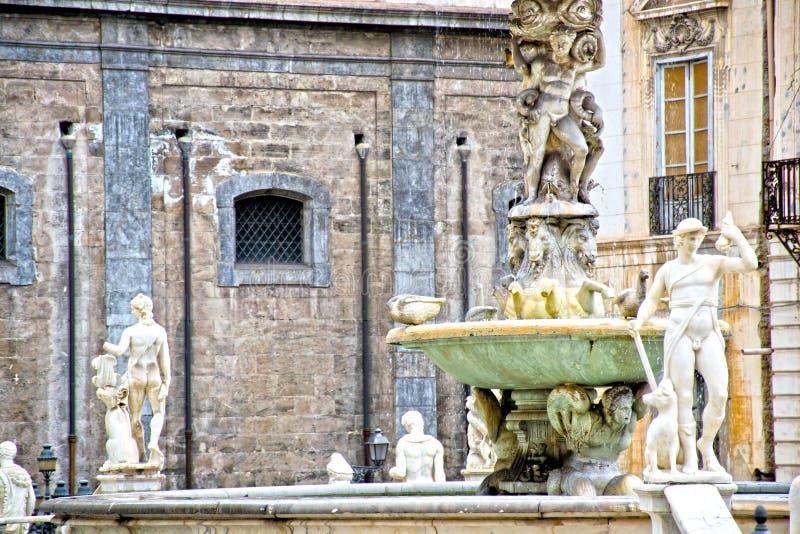 Palermo - Sicily. Square Pretoria, or shame, Palermo - Sicily stock photography