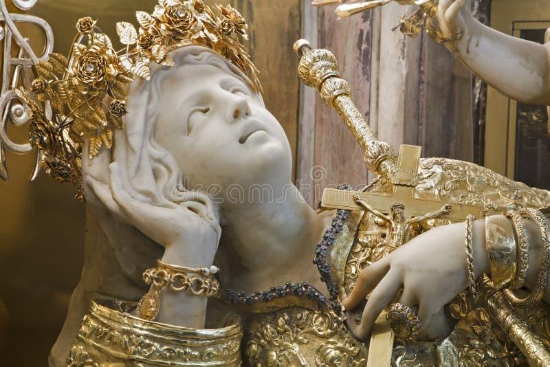 Palermo - statua Santa Rosalia patron Palermo fotografia royalty free