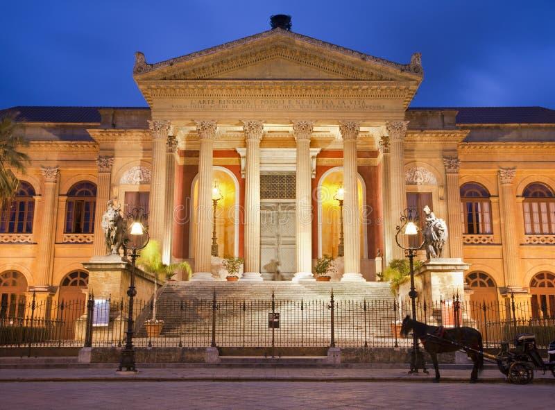 Palermo - Teatro Massimo immagine stock