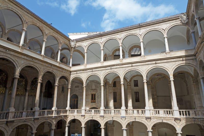 Palermo - vestíbulo do palácio normando fotos de stock royalty free