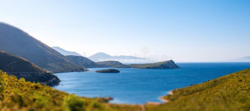 Palermo zatoka w Albania obrazy stock