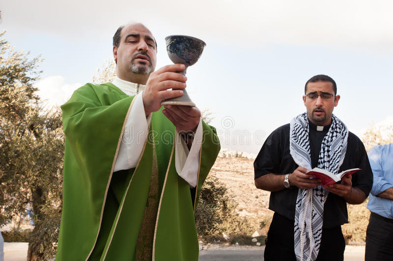 Palestijnse Christenen royalty-vrije stock afbeeldingen