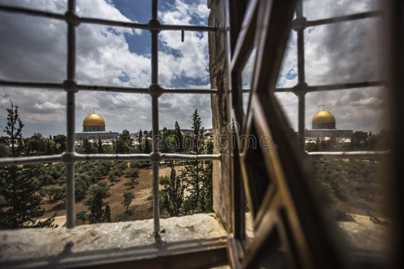 Palestijnse Christenen bij de St Porphyrius Kerk in Gaza royalty-vrije stock foto's