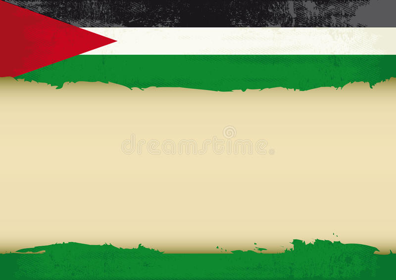 Palestijnse gekraste vlag royalty-vrije illustratie