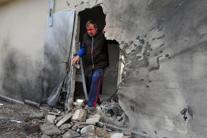 Palestijnse raketaanvallen op Israël stock afbeelding