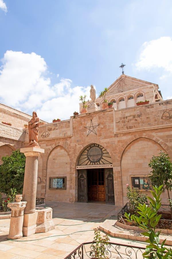 Palestin. Bethlehem. The Church of the Nativity stock photos