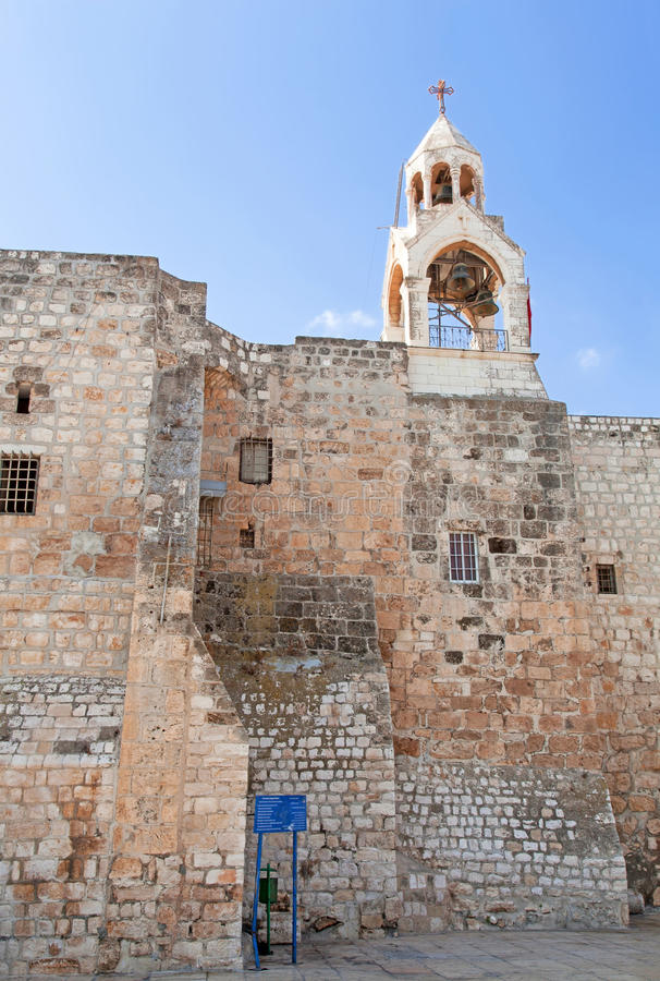 Palestin. Bethlehem. The Church of the Nativity stock photo