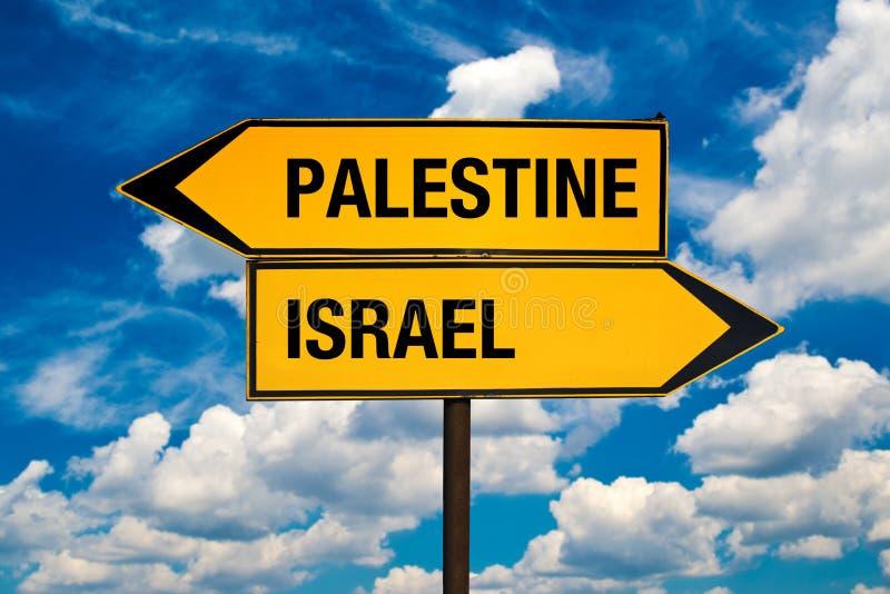 Palestina eller Israel arkivbild