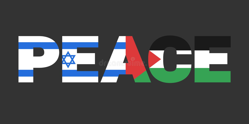 Palestina en Israël als staten en coutries in vrede royalty-vrije illustratie
