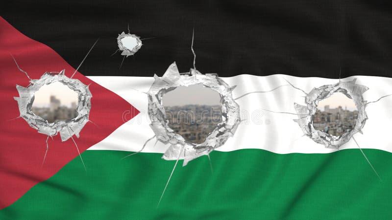 Palestina flagga royaltyfri bild