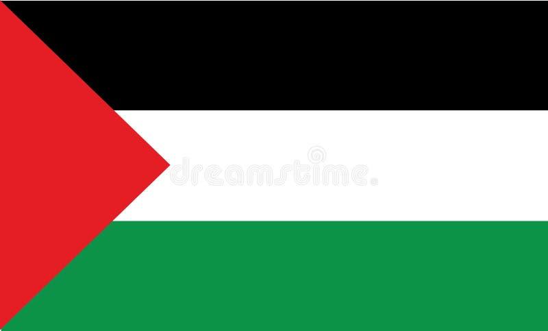 Palestine flag Gaza flag illustration. Middle East country flag royalty free illustration