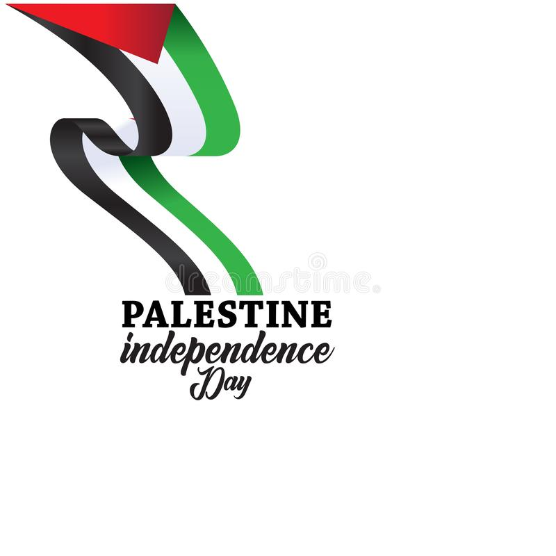 Palestine Happy independence day Background royalty free illustration