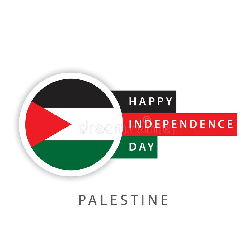 Happy Palestine Independence Day Vector Template Design Illustrator royalty free illustration